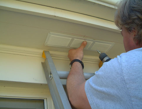 Eave Vent Close Up Installation